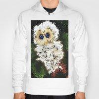 splatter Hoodies featuring Splatter owl by grapeloverarts