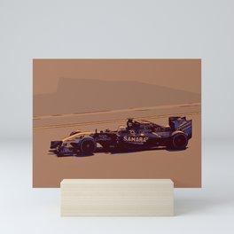 Formula one racer Mini Art Print