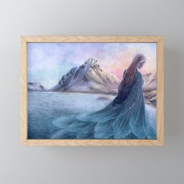 The Selkie's Cloak Framed Mini Art Print