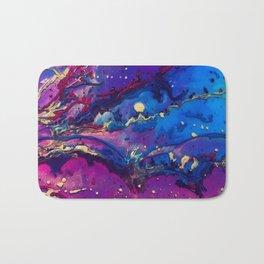 Acrylic Resin Abstract Pour Bath Mat