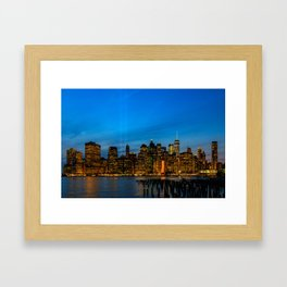 Tribute in Light. New York City, 2 Framed Art Print