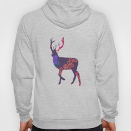 Deer and flower 6 Hoody