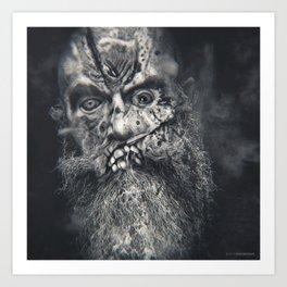 Bearded Bad Boy Art Print