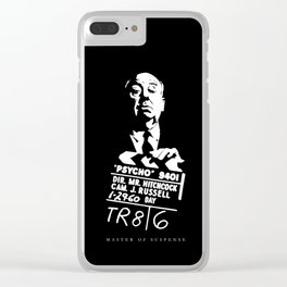 Alfred Hitchcock Master of Suspense Movie Psycho Clear iPhone Case