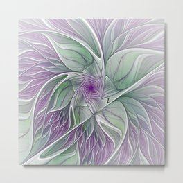 Flower Dream, Abstract Fractal Art Metal Print