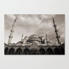 Blue Mosque in Grey Canvas Print