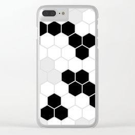 Honeycomb Pattern | Black and White Design | Minimalism Clear iPhone Case
