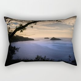 Thatchers Rock and Hope's Nose At Sunset Rectangular Pillow