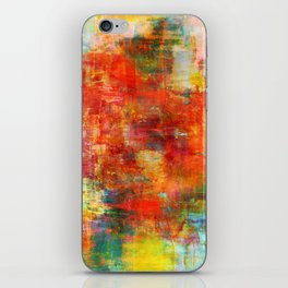 AUTUMN HARVEST - Fall Colorful Abstract Textural Painting Warm Red Orange Yellow Green Thanksgiving iPhone Skin