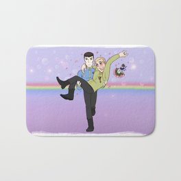 New Frontiers - Kirk and Spock Bath Mat
