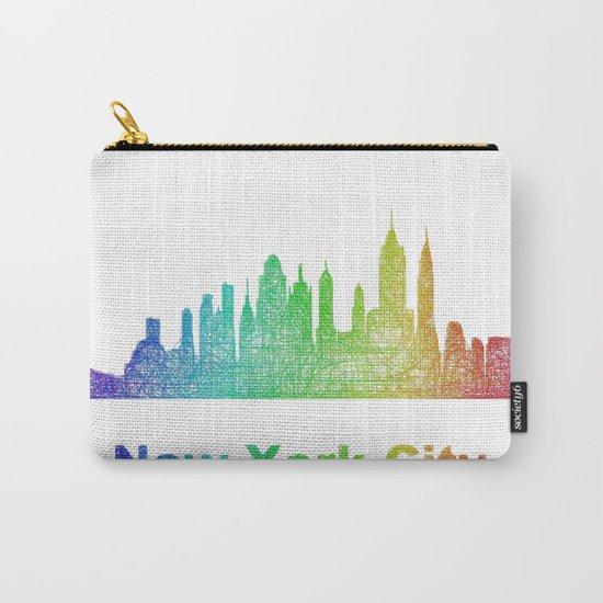 Rainbow New York City skyline Carry-All Pouch