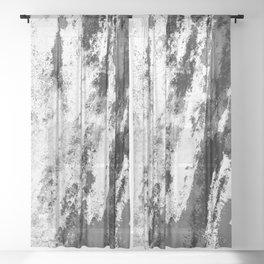 Perseverance Black & White Sheer Curtain