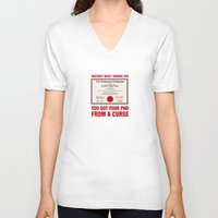 regina mills V-neck T-shirts featuring Regina Sassy Mills | You got your PhD from a curse by CLM Design