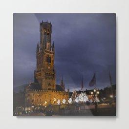 Beffroi de Bruges // Belfry of Bruges Metal Print