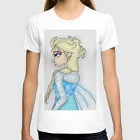 frozen elsa T-shirts featuring Elsa by crazy_feline