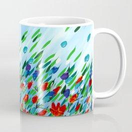Textured flowers Coffee Mug