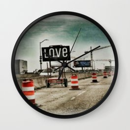 Road Construction Love  Wall Clock