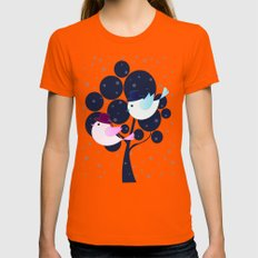 Winter Love Womens Fitted Tee X-LARGE Orange