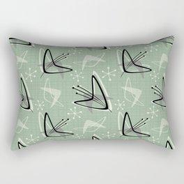 Cosmic Tulips on Green Rectangular Pillow