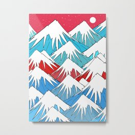 Red Sky Mounts Metal Print