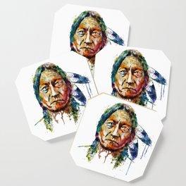 Sitting Bull watercolor painting Coaster