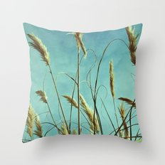 Aesthetic grass Throw Pillow