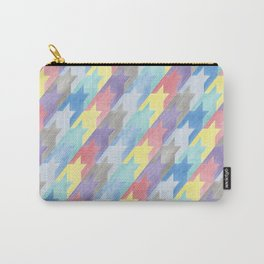 Multicoloured Houndstooth Carry-All Pouch