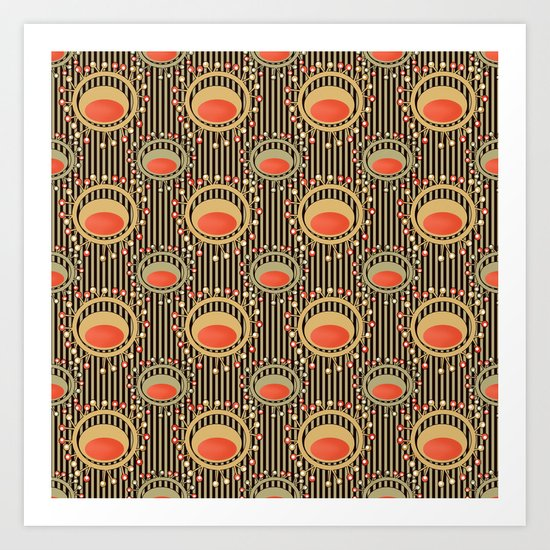 Abstract yellow and grey pattern . Art Print