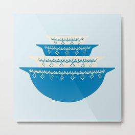 Snowflake Garland Pyrex Metal Print