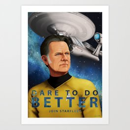 Dare To Do Better Art Print