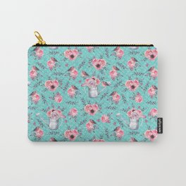 Watercolor floral art Carry-All Pouch