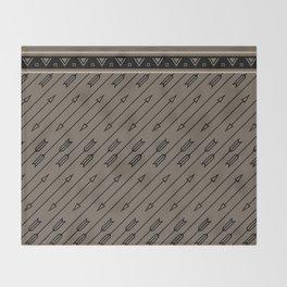 Arrows Flying (Gray Black) Throw Blanket