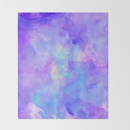 Abstract watercolor colorful painting Throw Blanket