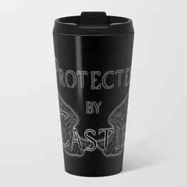Protected by Castiel Black Wings Travel Mug