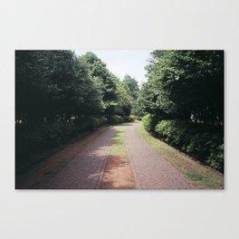 Entrance to the park Canvas Print