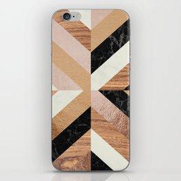 Copper Marble Wood iPhone Skin