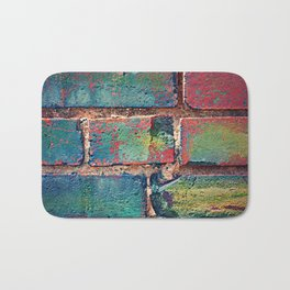 The Rainbow Brick Wall Bath Mat