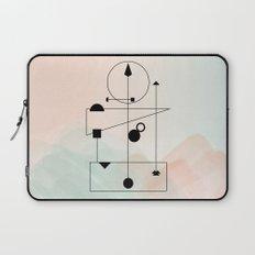Geometric Scandinavian Design Pastel Colors Laptop Sleeve