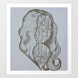 Forest Lady Art Print