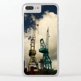 Harbor Crane Clear iPhone Case