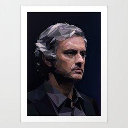 Chelsea's Jose Mourinho Art Print