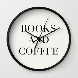 Books & Coffee Wall Clock