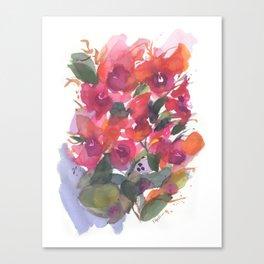 Red Orchid Splash Canvas Print