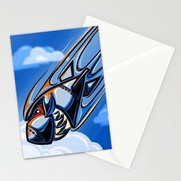 Retro Bomb Falling Stationery Cards