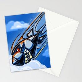 Retro Bomb Falling Stationery Cards
