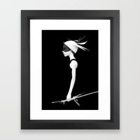 Cas Framed Art Print