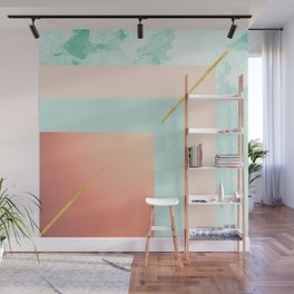Square shapes Wall Mural