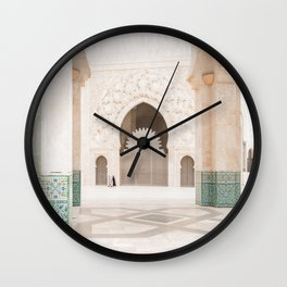 Beautiful Perspective - Hassan II, Casablanca, Morocco Wall Clock