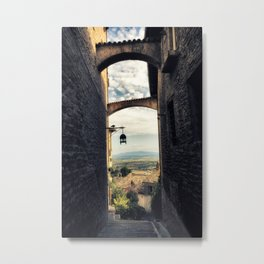 Traditional alley in Assisi Metal Print