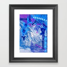 Wave Blue II Framed Art Print